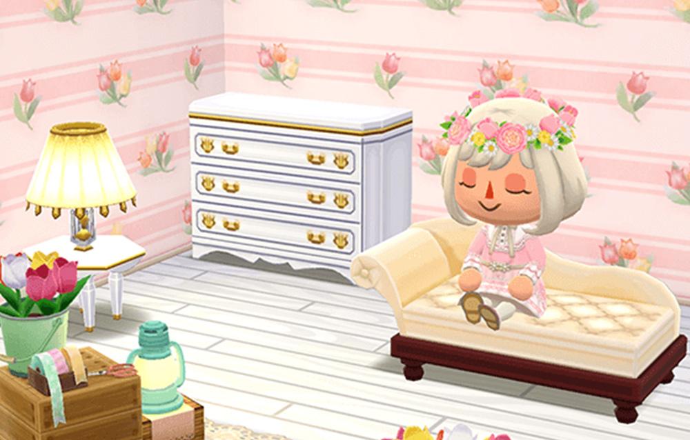 È ora disponibile la collezione muri e pavimenti a tema floreale in Animal Crossing: Pocket Camp!