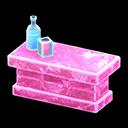 Bancone iceberg (Rosa ghiaccio)