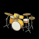Batteria (Giallo oro, Bianco semplice)