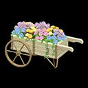 Carretto con fiori (Bianco)