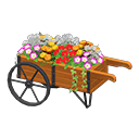 Carretto con fiori (Marrone)