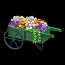 Carretto con fiori (Verde)