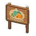 Cartello area per campeggio