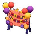 Cartello di compleanno (Arancio)