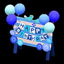 Cartello di compleanno (Blu)
