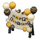 Cartello di compleanno (Elegante)