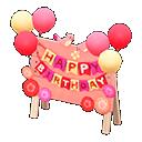 Cartello di compleanno (Rosa)