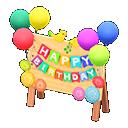 Cartello di compleanno (Variopinto)