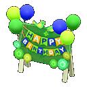 Cartello di compleanno (Verde)