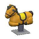 Cavallo a molla (Marrone)