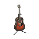 Chitarra acustica (Marrone)