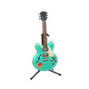 Chitarra elettrica (Verde mare smeraldo, Pop)