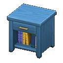 Comodino di legno (Blu)