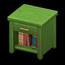 Comodino di legno (Verde)