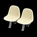 Coppia di sedie sala attesa (Bianco)