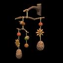 Giostrina frutti dell'albero (Marrone)