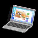 Laptop (Argentato, Internet)
