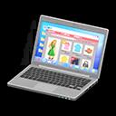 Laptop (Argentato, Shopping online)