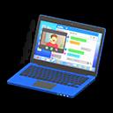 Laptop (Blu, Chat)