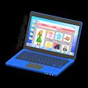 Laptop (Blu, Shopping online)