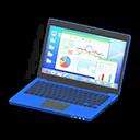 Laptop (Blu, Statistiche)