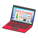 Laptop (Rosso, Shopping online)