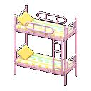 Letto a castello (Rosa, Righe multicolore)