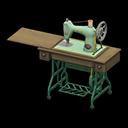 Macchina da cucire antica (Verde)