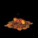 Mucchio di foglie falò (Senza niente)