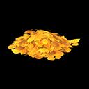 Mucchio di foglie gialle
