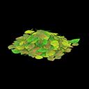 Mucchio di foglie verdi