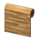 Muro a liste di legno