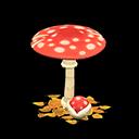 Ombrellone fungo (Fungo rosso)