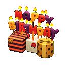 Ornamento di compleanno (Arancio)