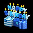 Ornamento di compleanno (Blu)