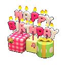 Ornamento di compleanno (Rosa)