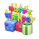 Ornamento di compleanno (Variopinto)