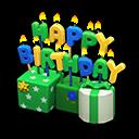 Ornamento di compleanno (Verde)