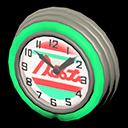 Orologio bar anni '50 (Acquamarina, Linee rosse)