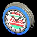 Orologio bar anni '50 (Blu, Linee rosse)