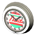 Orologio bar anni '50 (Crema, Linee rosse)