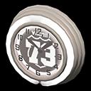 Orologio bar anni '50 (Crema, Numero su sfondo nero)