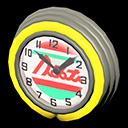 Orologio bar anni '50 (Giallo, Linee rosse)