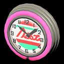 Orologio bar anni '50 (Rosa, Linee rosse)