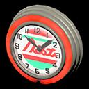 Orologio bar anni '50 (Rosso, Linee rosse)