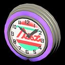 Orologio bar anni '50 (Viola, Linee rosse)