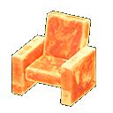 Poltrona iceberg (Arancione ghiaccio)