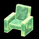 Poltrona iceberg (Verde ghiaccio)