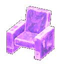 Poltrona iceberg (Viola ghiaccio)