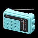 Radio portatile (Blu chiaro)